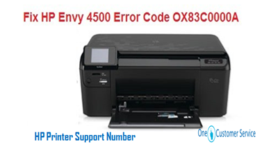 Easy Methods to Fix HP Envy 4500 Error Code OX83C0000A